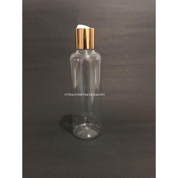 Botol Disctop 250 ml Natural Tutup Aluminium Gold