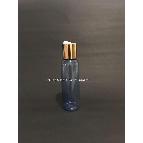 Botol Disctop 100 ml Biru Tutup Aluminium Gold