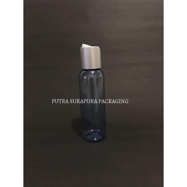 Botol Disctop 100 ml Biru Tutup Aluminium Silver