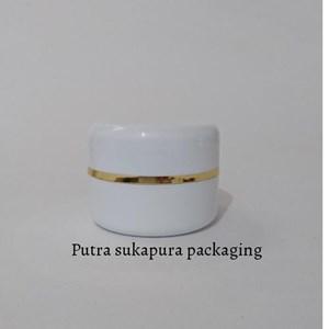 Pot Cream PP 12.5 gr Putih Terang Lis Gold