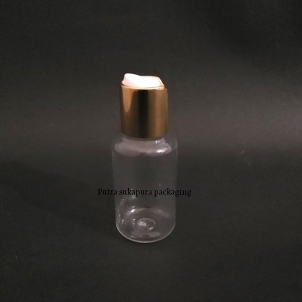 Botol Disctop Presstop 70ml Tutup Aluminium Gold