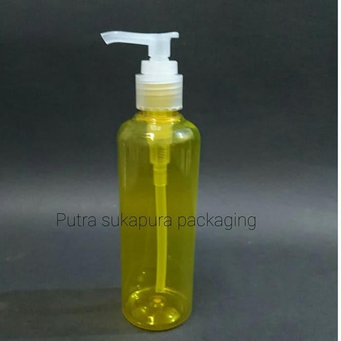 Jual Botol Pump 250 Ml Kuning Tutup Natural Harga Murah