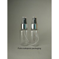 Botol Spray 70 ml Tubular Tutup Metal Silver