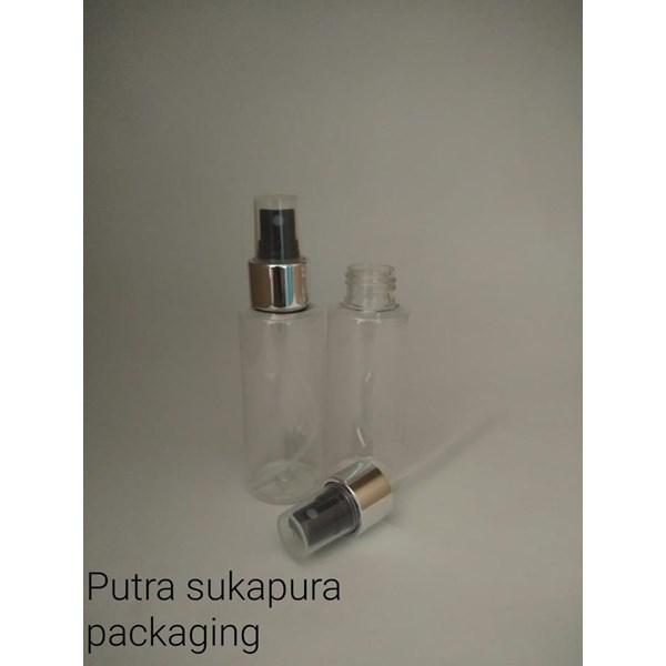 Botol Spray 100 ml Import RF tutup Silver