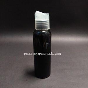 Botol Presstop 100 ml Hitam Tutup Natural