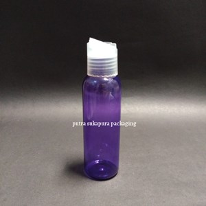 Botol Presstop 100ml Ungu Tutup Natural