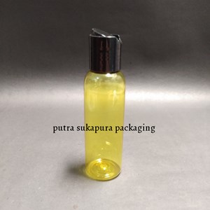 Botol Presstop 100ml Kuning Tutup Hitam
