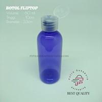 Botol Fliptop 60ml Violet Tutup Natural