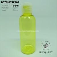 Botol Fliptop 60ml Kuning Tutup Natural