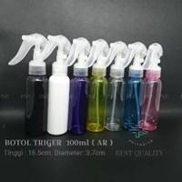 BOTOL SPRAY TRIGGER 100 ML WARNA VARIAN DGN TUTUP WARNA NATURAL AR