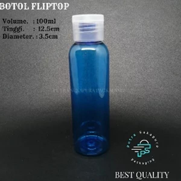 BOTOL FLIPTOP 100 ML WARNA VARIAN DGN TUTUP WARNA NATURAL