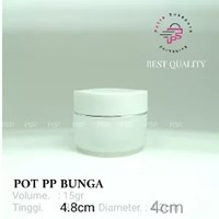 POT BUNGA 15 GR PUTIH NATURAL