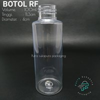 BOTOL SPRAY RF 100 ML CLEAR TUTUP SILVER