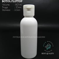 BOTOL FLIPTOP 60 ML WARNA PUTIH