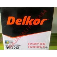Aki Mobil Delkor 95D26L 12v 75Ah