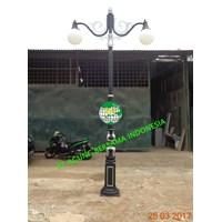 Jual Tiang Lampu Taman Jalan Dekoratif Double Ornament 2
