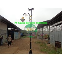 Tiang Lampu Single Braket Sollar Cell