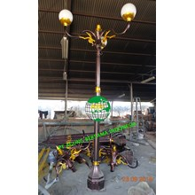 Tiang Lampu Antik 4 Meter