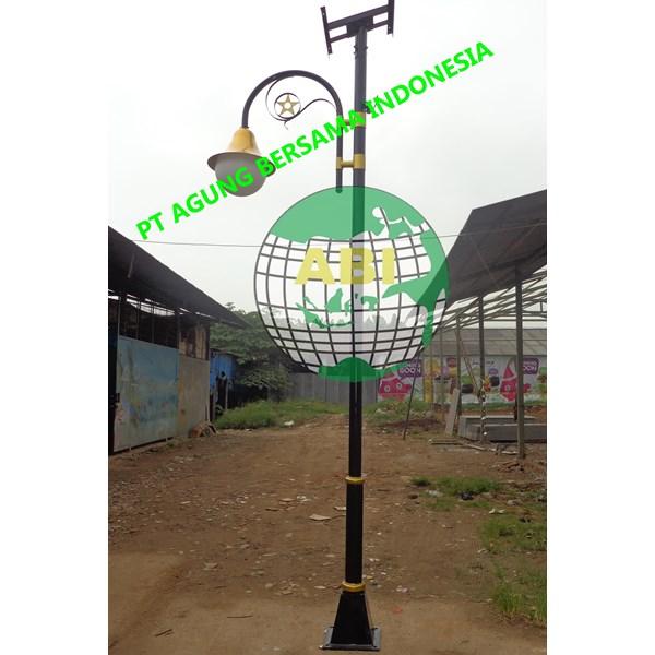 TIANG LAMPU TAMAN JALAN SOLAR CELL