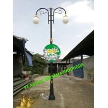 Tiang Lampu Jalan Dekorasi 6 Meter 2 lampu