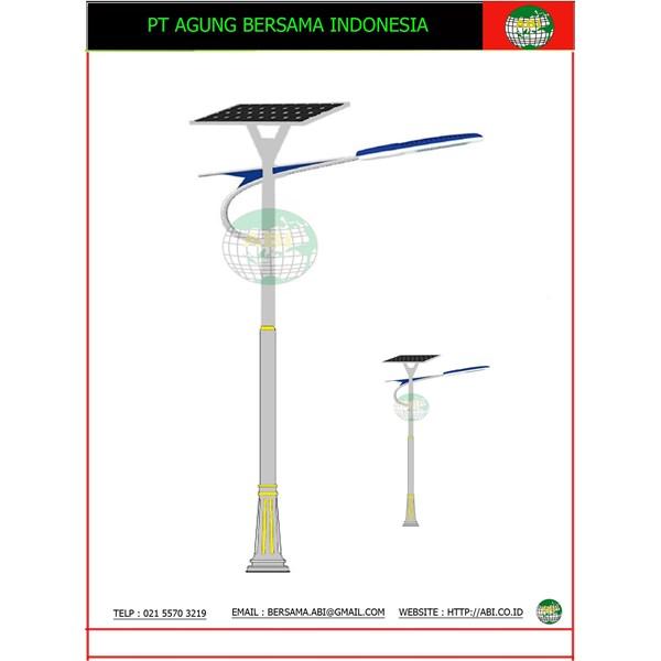 TIANG LAMPU JALAN SOLAR CELL