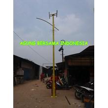 Tiang PJU Type Bambu Solar Cell