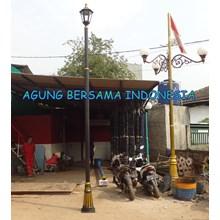 Single ABI Garden Light Pole