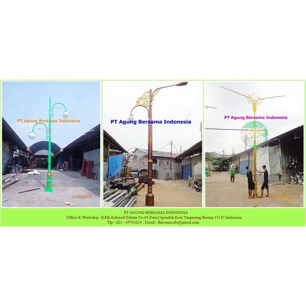 Tiang PJU Lampu Dekoratif H - 7 meter