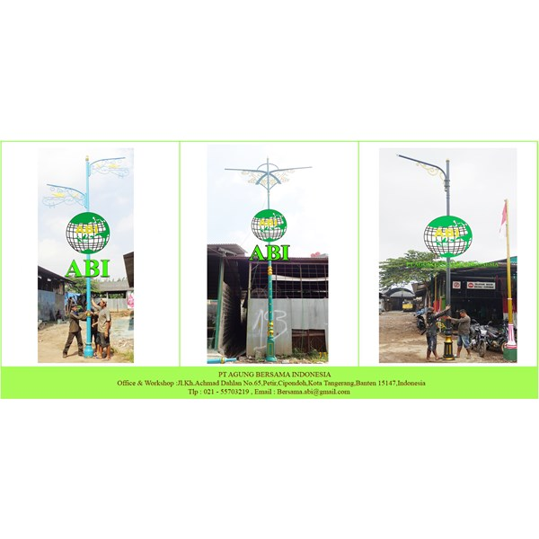 Tiang PJU Lampu Dekoratif 6 meter