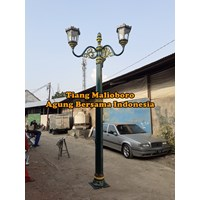 Antique Garden Light Poles Classic Color