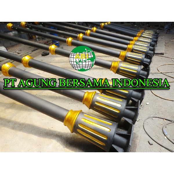 Model Tiang Lampu Antik Warna Klasik
