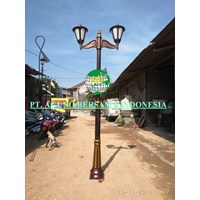 Antique Branch 2 lamp post 3 meters high