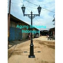 tiang lampu taman antik 3 meter cabang 2