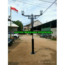 Tiang Lampu Taman Antik Double Ornament ABI Indone