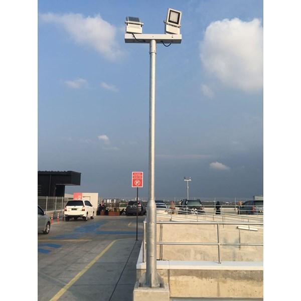 PJU pole floodlights