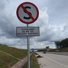 Rambu Jalan Dilarang Berhenti