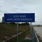 Rambu Jalan / Rambu Lalu Lintas Petunjuk Jalan Lajur Kanan Hanya Untuk Mendahului 1
