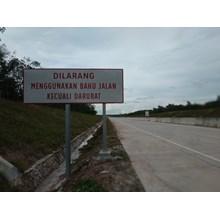 Emergency Lane Road Sign