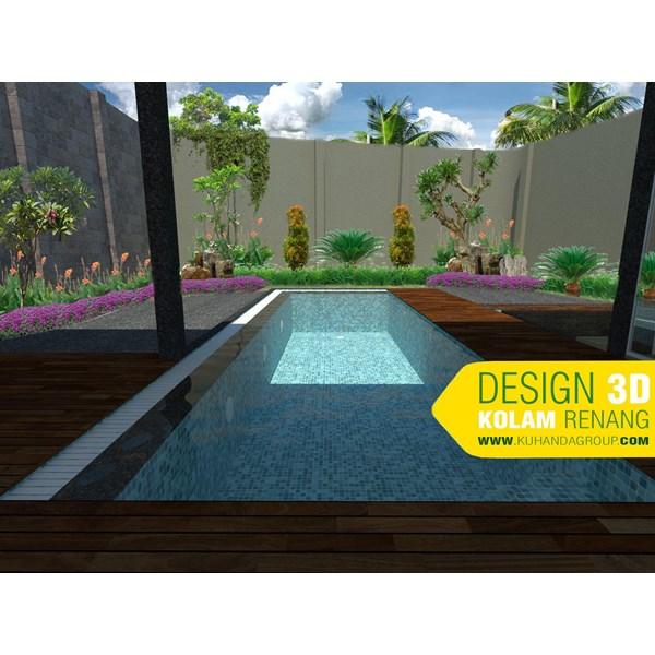 Foto Dari Desain 2D Dan 3D Kolam Renang 9
