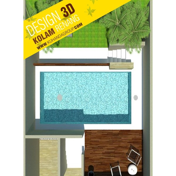 Foto Dari Desain 2D Dan 3D Kolam Renang 14
