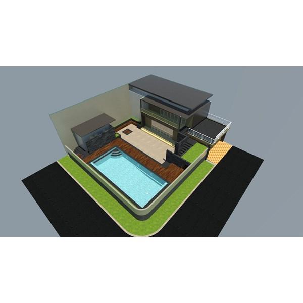 Foto Dari Desain 2D Dan 3D Kolam Renang 20