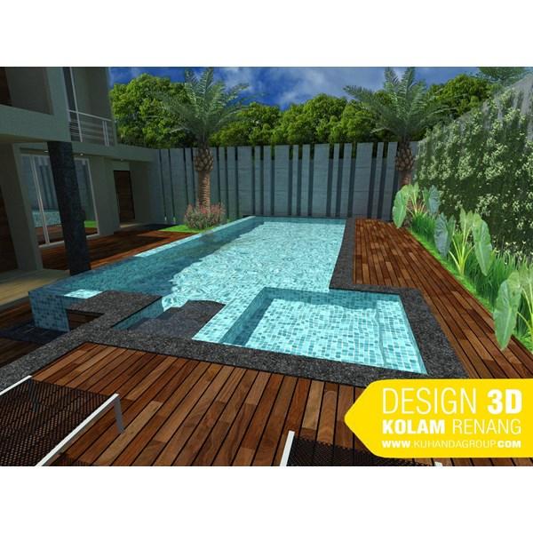 Foto Dari Desain 2D Dan 3D Kolam Renang 25