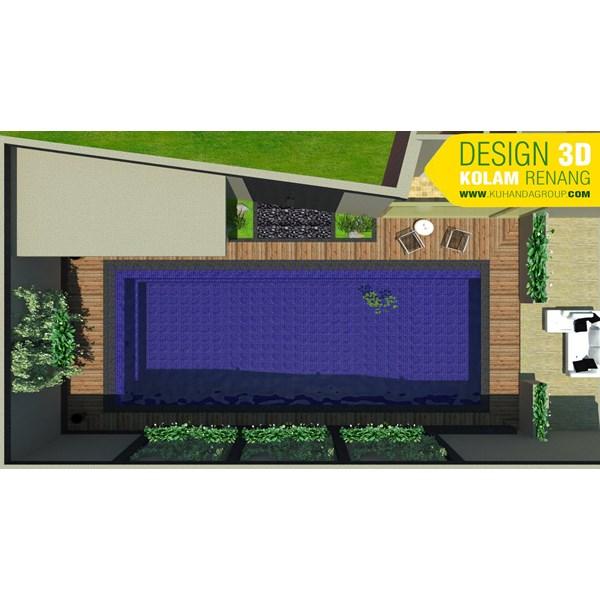Foto Dari Desain 2D Dan 3D Kolam Renang 5