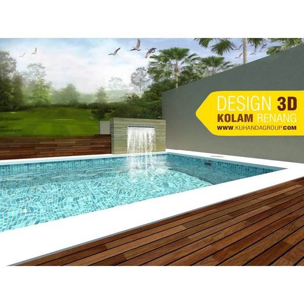 Foto Dari Desain 2D Dan 3D Kolam Renang 13