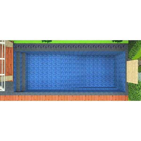 Foto Dari Desain 2D Dan 3D Kolam Renang 3