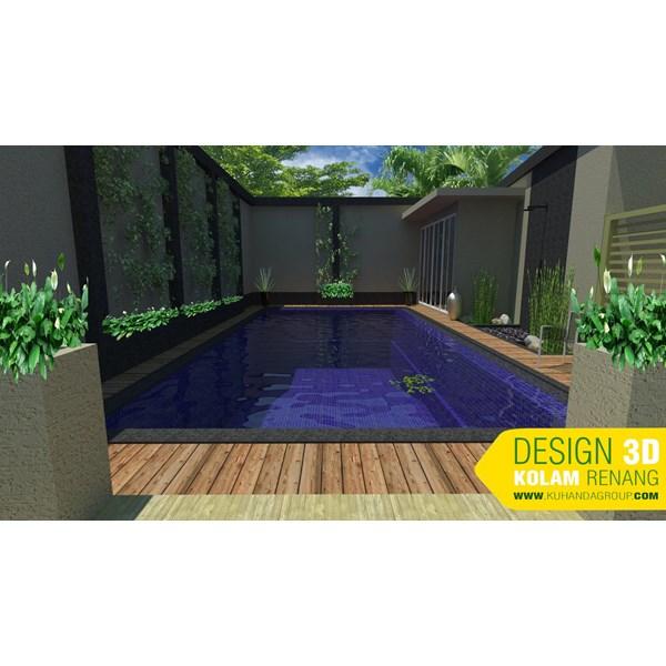 Foto Dari Desain 2D Dan 3D Kolam Renang 6