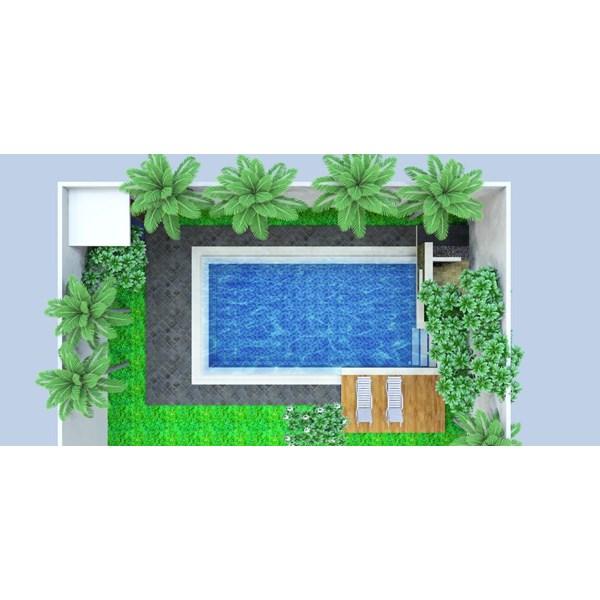 Foto Dari Desain 2D Dan 3D Kolam Renang 24
