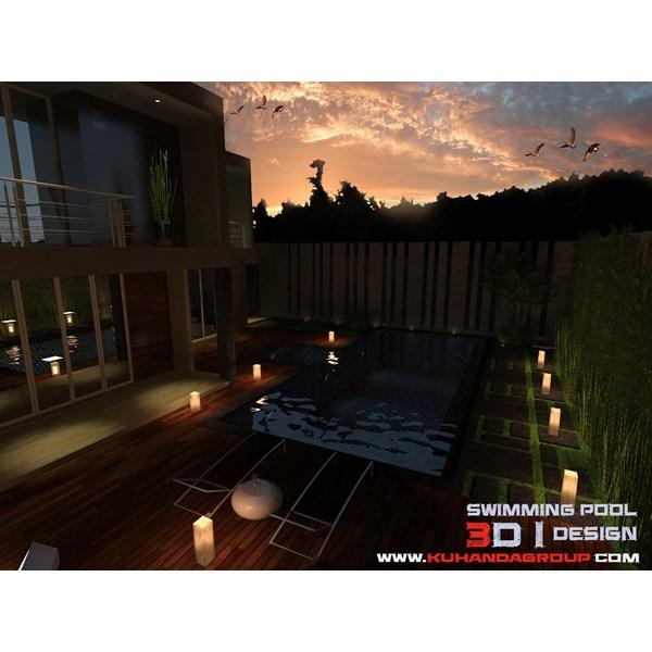 Foto Dari Desain 2D Dan 3D Kolam Renang 27