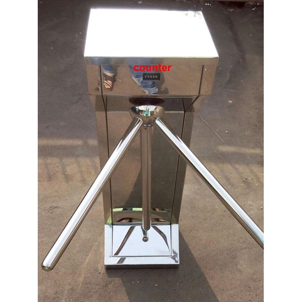 Tripod Turntile Stainless Steel Manual Lokal