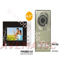 Video Door Phone 4 3 Inch Color Resolusi Tinggi Pva 830